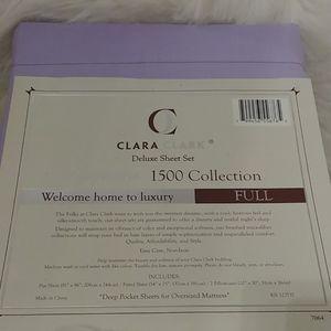 Clara Clark Bedding - Clara Clark 1500 Collection Full Lavender Sheets